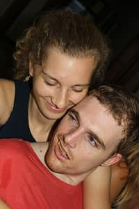 Julia Beckmann with Andrew