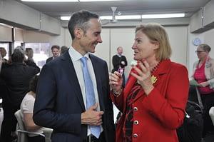 Dr Andrew Leigh (Fenner, Labor) and Julie Owens (Parramatta, Lab)
